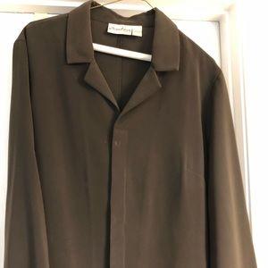 Dark brown blouse